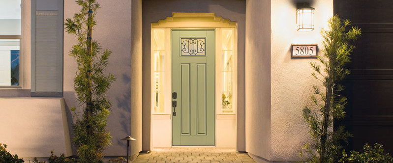 Professional finishing to enhance your fiberglass door for Door 9 denver